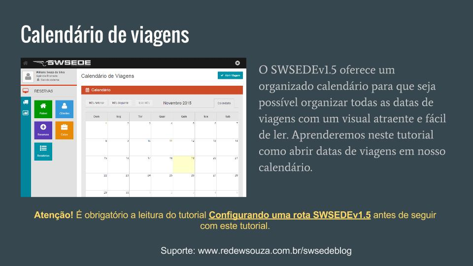 Abrir viagem SWSEDEv1.5.1