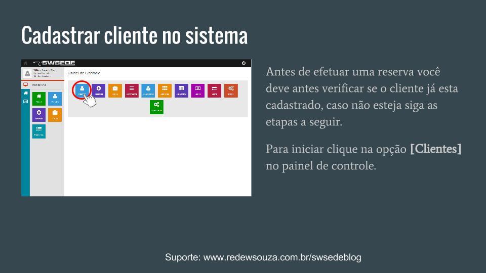 Cadastrar um novo cliente SWSEDEv1.5.1 (1)