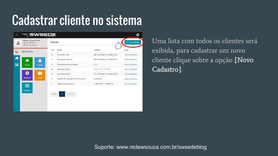 Cadastrar um novo cliente SWSEDEv1.5.1 (2)
