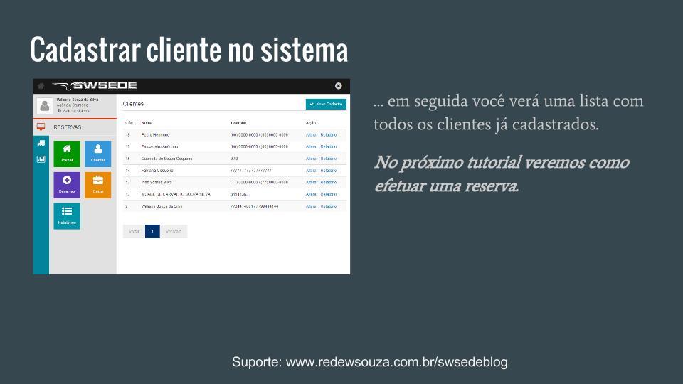 Cadastrar um novo cliente SWSEDEv1.5.1 (4)