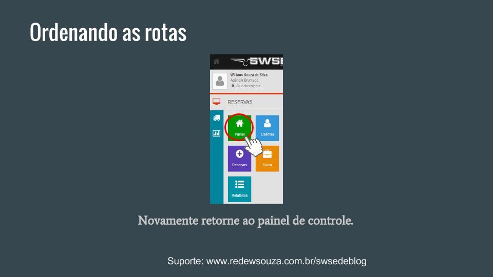 Configurando uma rota SWSEDEv1 (10)